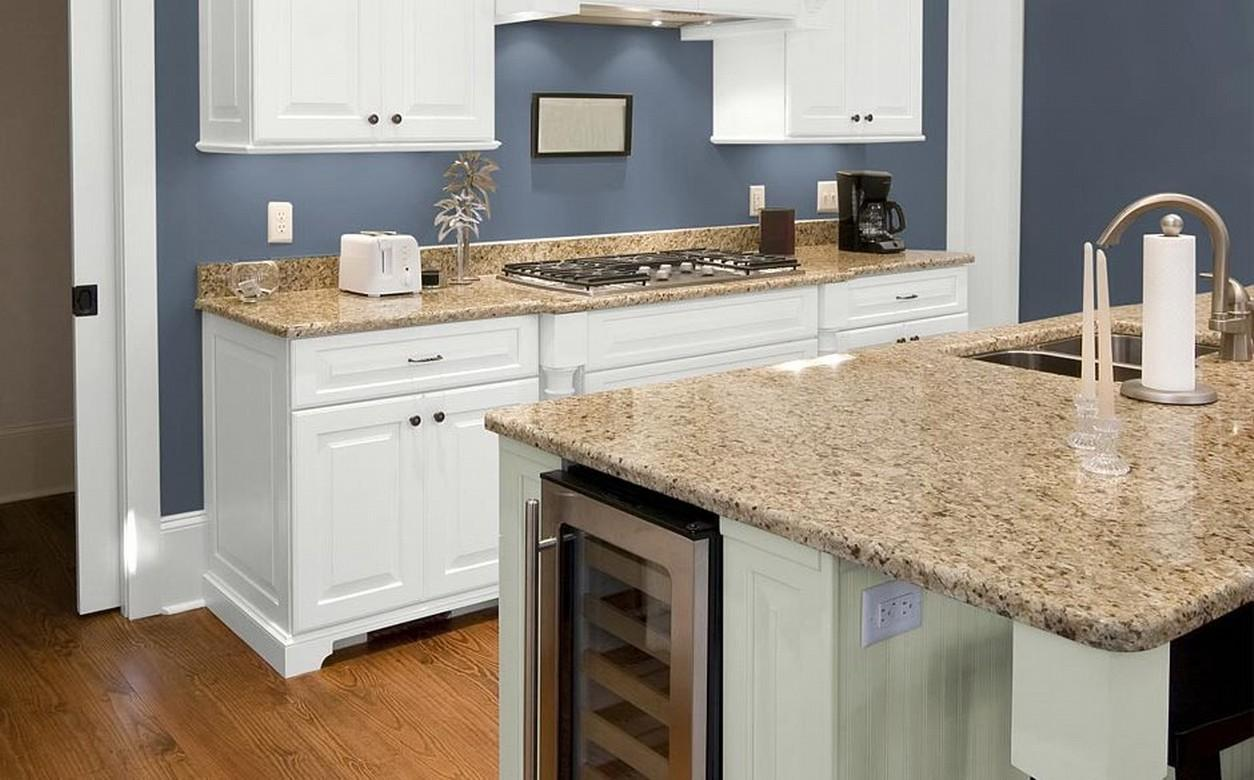 enchanting kitchen wall color ideas white cabinets | 10 Greatest Blue Kitchen Color Scheme