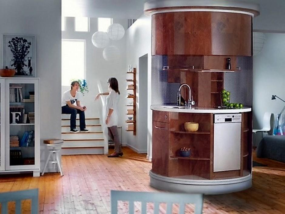 Compact Circular Kitchen
