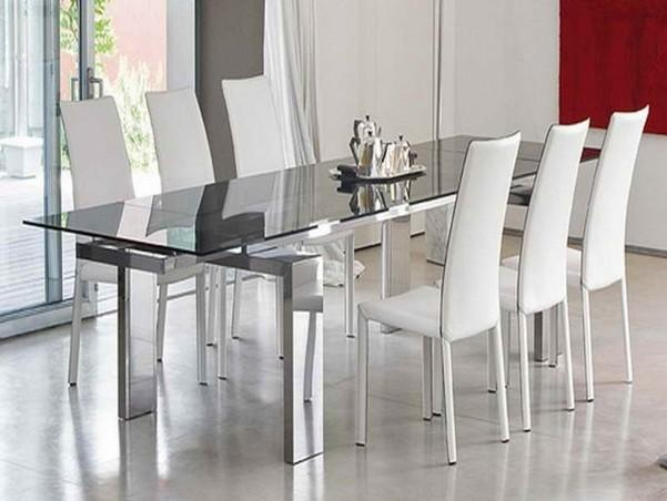 10 Unbelievable Ideas of Modern Glass Dining Table
