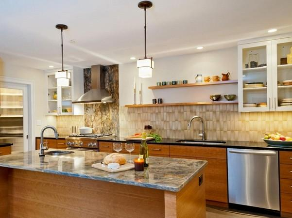 Modern Kitchen Without Upper Cabinets