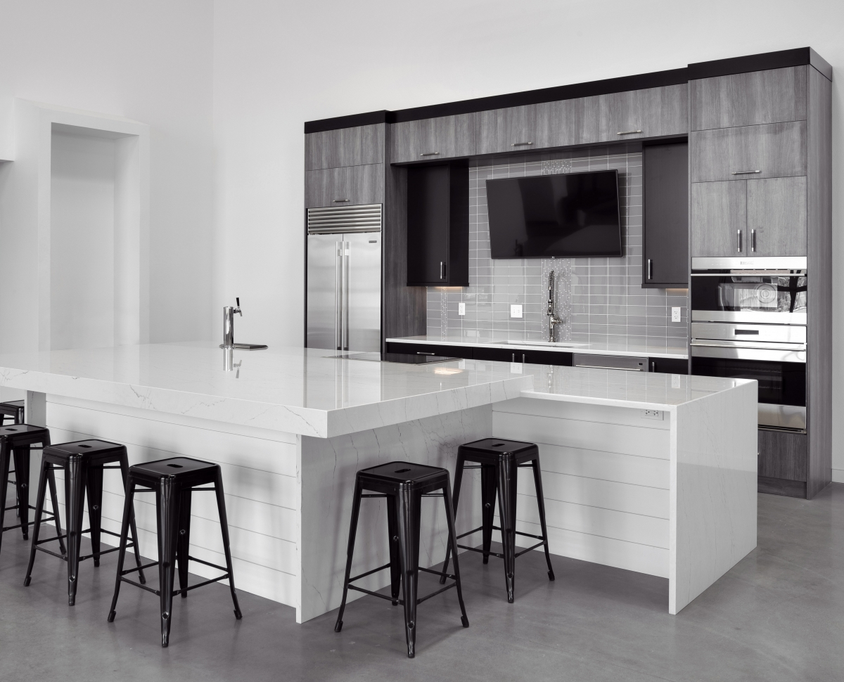 monochrome kitchen style