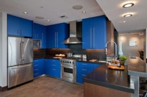 Stylish Blue Color Kitchen Ideas
