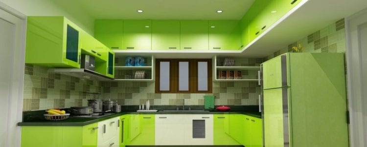 green color kitchen