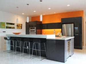17 Cheerful Orange Color Kitchen