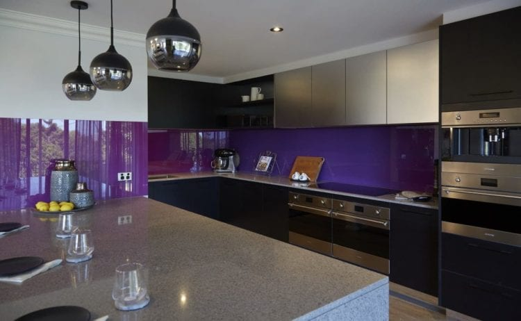 purple color kitchen