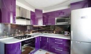 17 Amusing Purple Color Kitchen Design Scheme