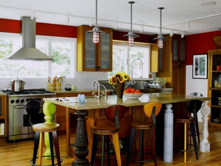 red kitchen color