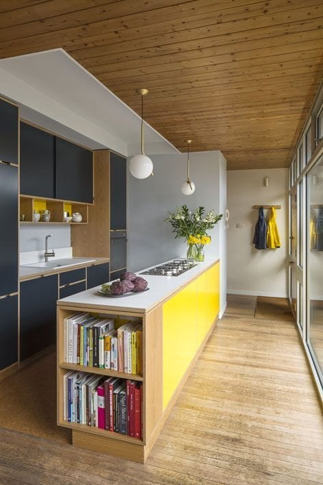 yellow color kitchen