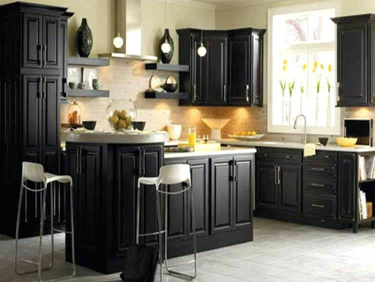 black color kitchen