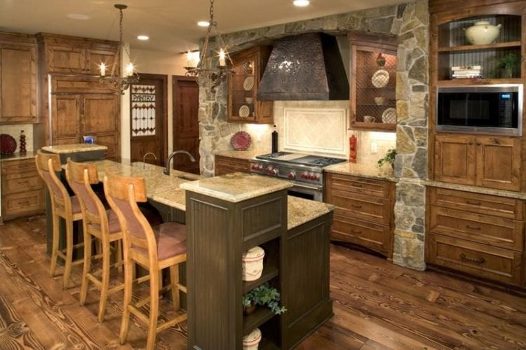 rustic kitchen style