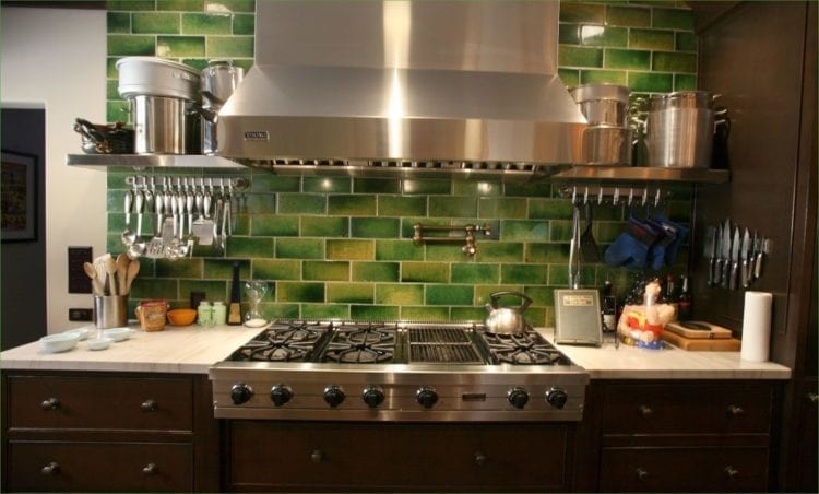 16 Wow-Worthy Green Kitchen Backsplash Ideas for Green Lovers