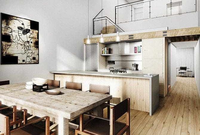 industrial kitchen style