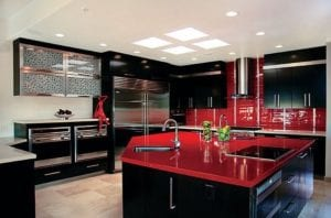 16 Inspirations to Use the Stunning Red Kitchen Island