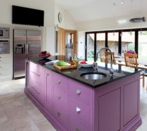 Apply 1 of 16 Purple Kitchen Island for Perfect Look