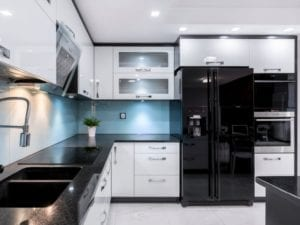 Drive Away Dull Look with Black Kitchen Appliances