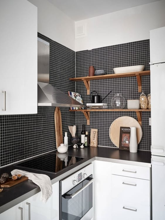 monochrome kitchen appliances