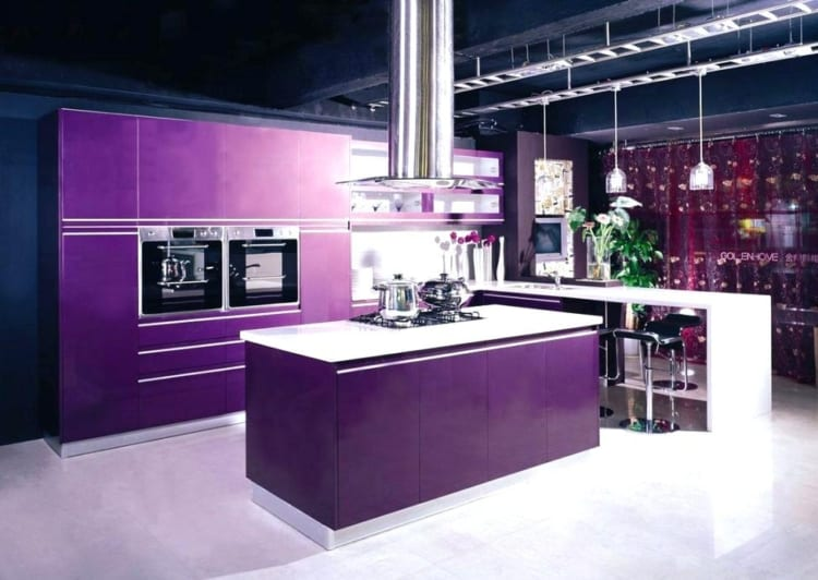 purple kitchen style