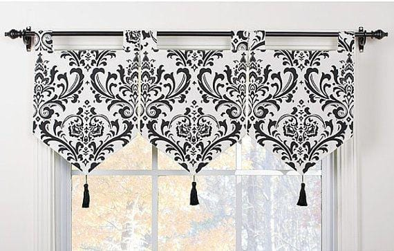monochrome kitchen windowtreatments