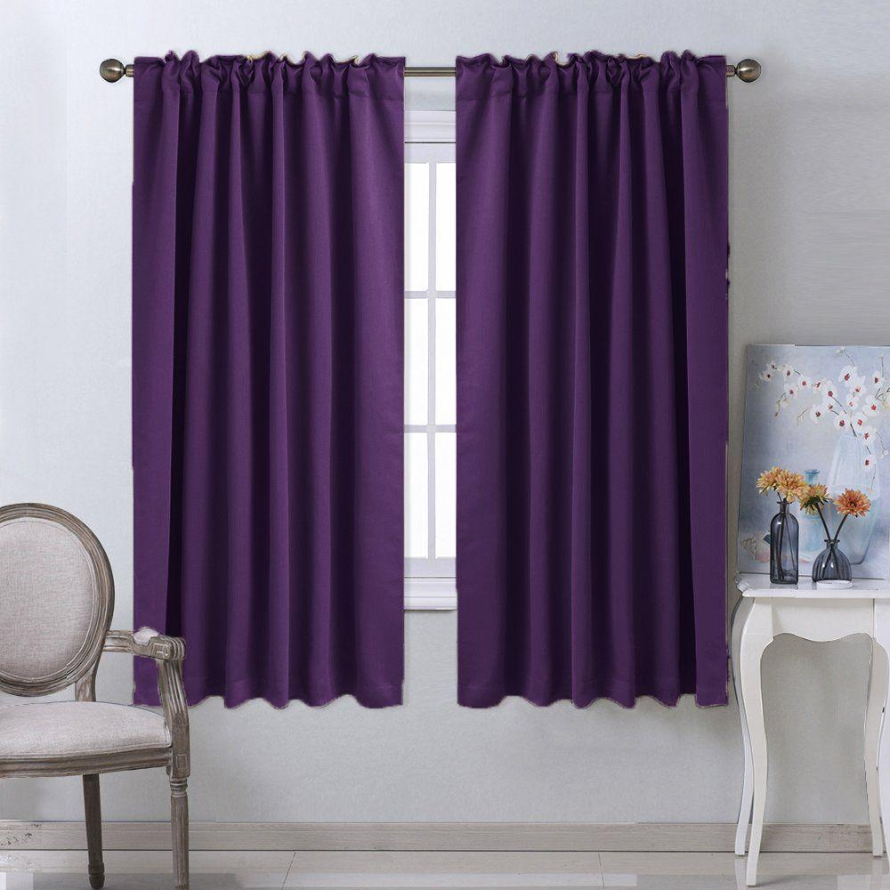 purple kitchen window treatment