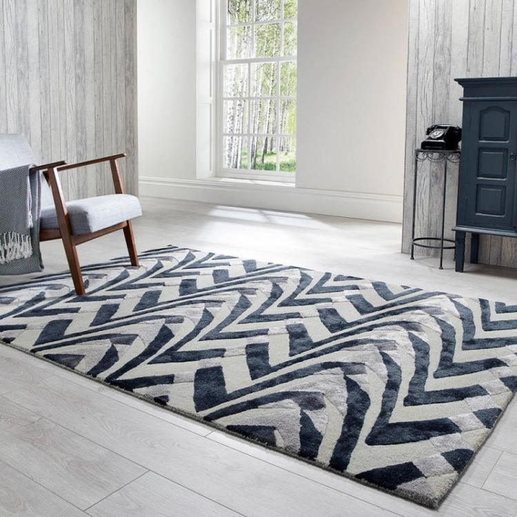 monovhrome kitchen rug