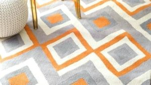 17 Cheery Orange Kitchen Rug Design Ideas