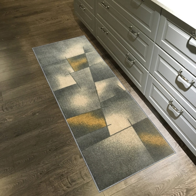 yellow kitchen rug