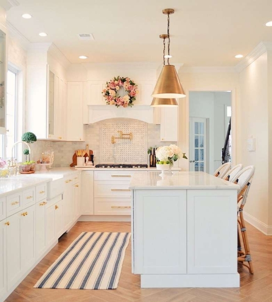 white kitchen rug