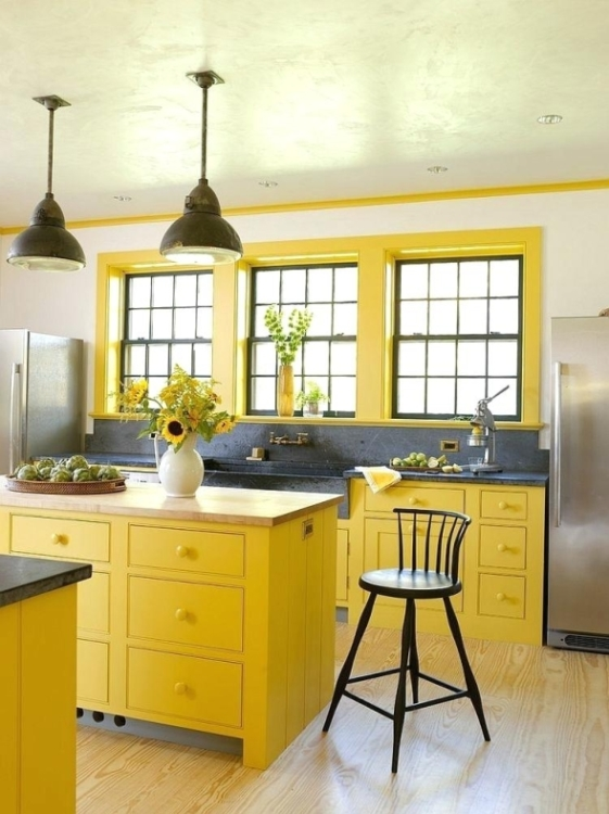 Yellow Kitchen Wall Décor Design