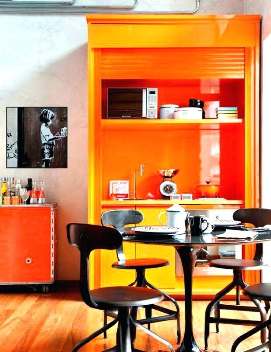 Orange Kitchen Wall Décor Design