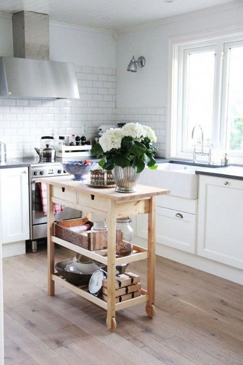 29 portable kitchen island ideas for flexible food-prepping