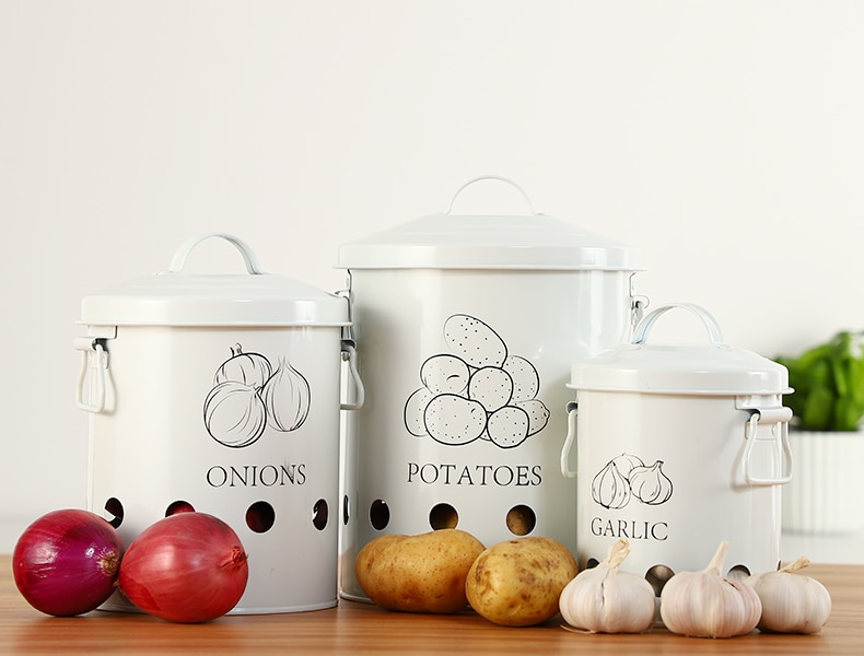 Kitchen Breathable Storage Bins with Handles