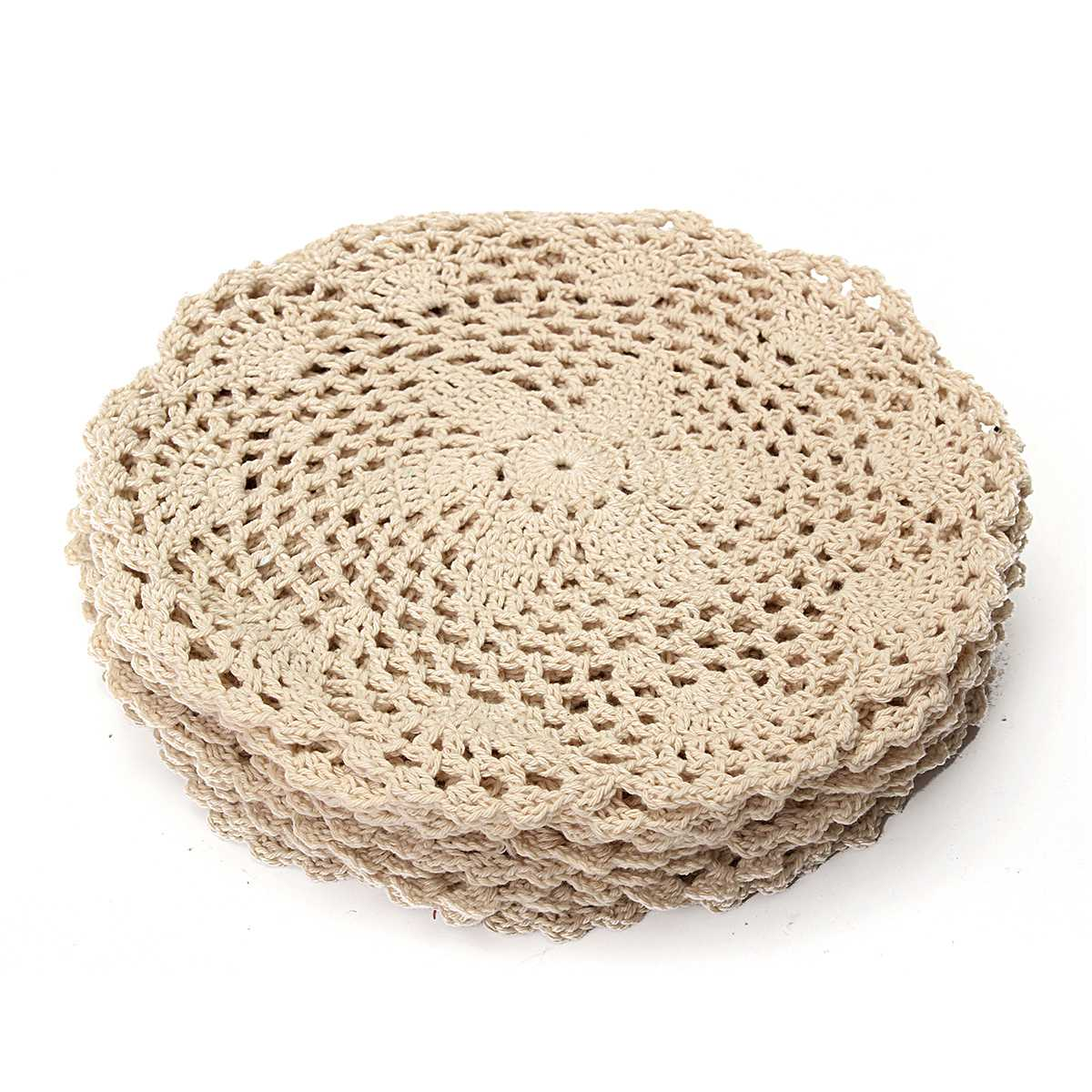 Cotton Crochet Coasters 12 Pcs Set