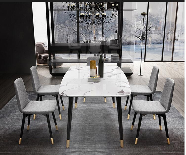 Light Luxury Marble Table for Dining Room