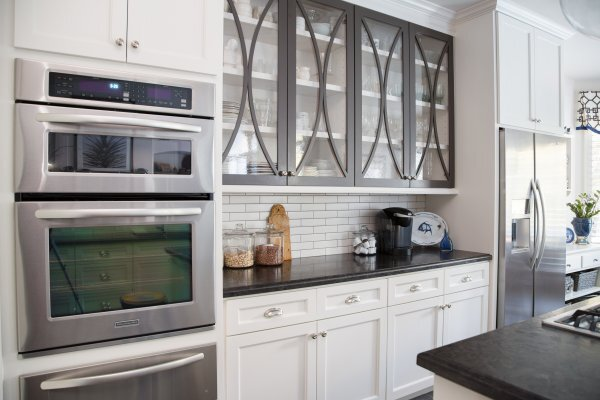 Kitchen Cabinet Doors with Glass Panels